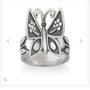 NWOT James Avery Butterfly Ring